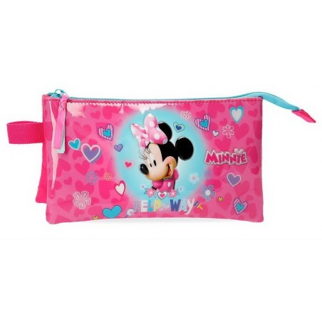 Estuche neceser triple Disney Minnie Help on the day