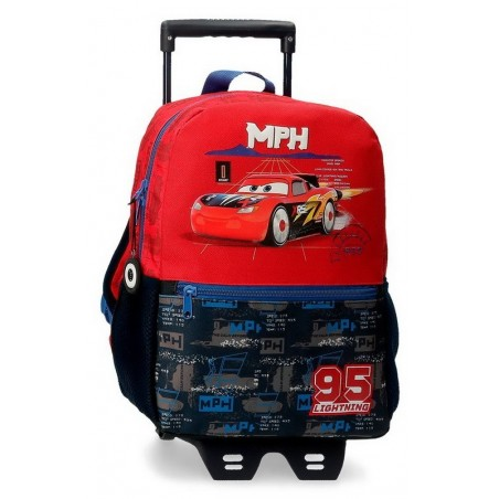 Mochila mediana con carro Disney Cars Rocket Racing