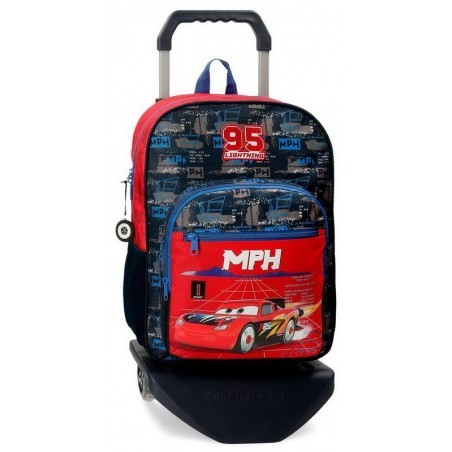 Mochila grande con carro Disney Cars Rocket Racing