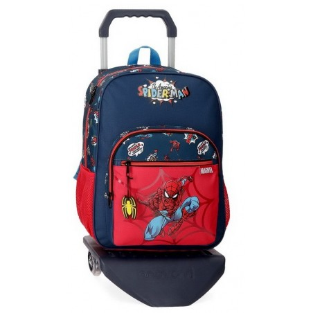 Mochila grande con carro Marvel Spiderman Pop