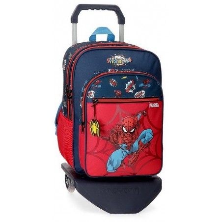 Mochila doble con carro Marvel Spiderman Pop