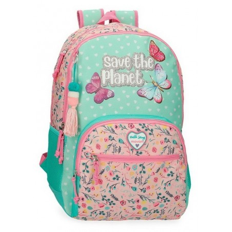 Mochila doble reforzada adaptable Movom Save the Planet