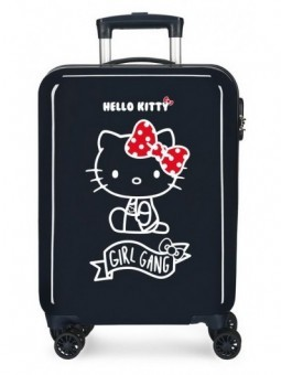 Maleta cabina azul Hello Kitty Girl Gang
