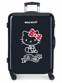 Maleta mediana azul Hello Kitty Girl Gang