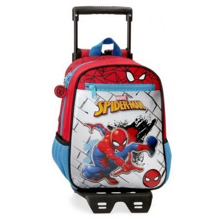 Mochila pequeña con carro Marvel Spiderman Red