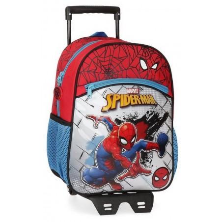 Mochila mediana con carro Marvel Spiderman Red