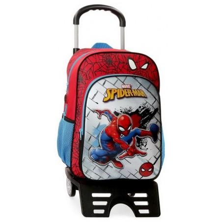 Mochila grande con carro Marvel Spiderman Red