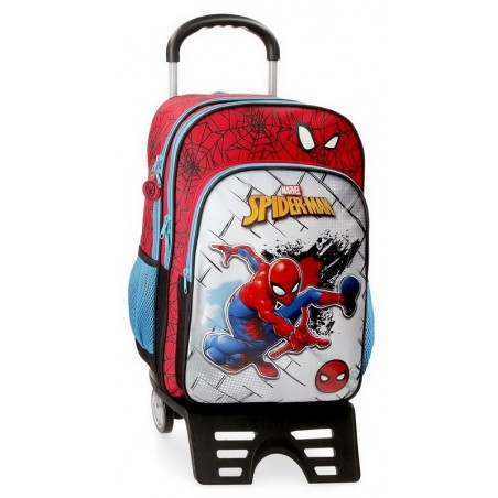Mochila doble con carro Marvel Spiderman Red