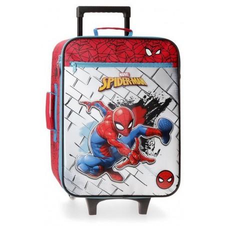 Maleta cabina flexible Marvel Spiderman Red