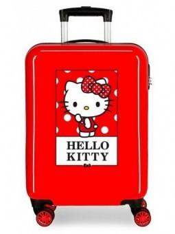 Maleta cabina roja Hello Kity Bow