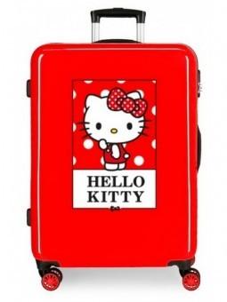 Maleta mediana roja Hello Kity Bow