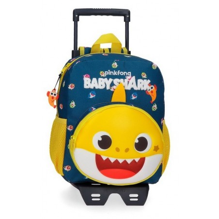 Mochila pequeña con carro Baby Shark My Good Friend