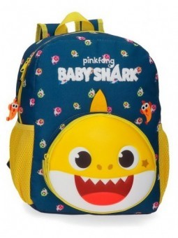 Mochila mediana adaptable Baby Shark My Good Friend