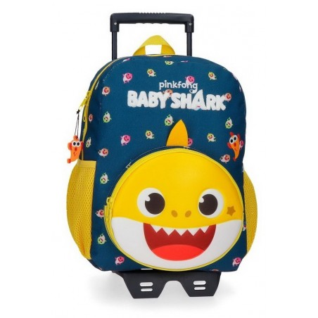 Mochila mediana con carro Baby Shark My Good Friend