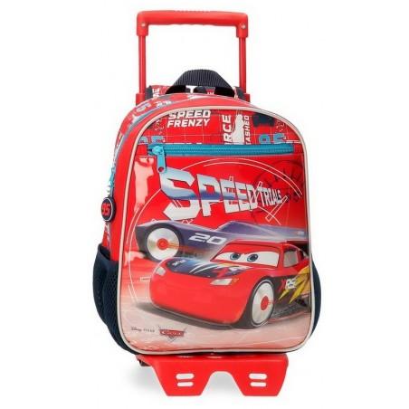 Mochila pequeña con carro Disney Cars Speed Trials