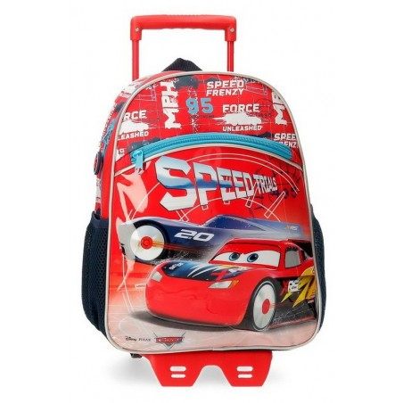 Mochila mediana con carro Disney Cars Speed Trials