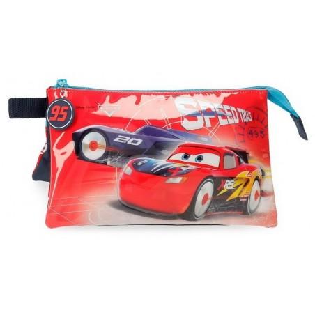 Estuche neceser triple Disney Cars Speed Trials