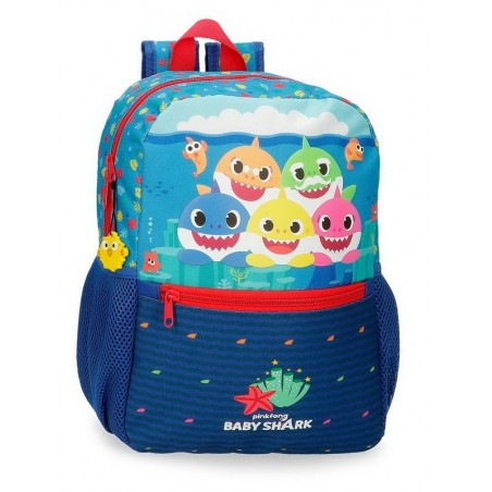 Mochila mediana adaptable Baby Shark Happy Family