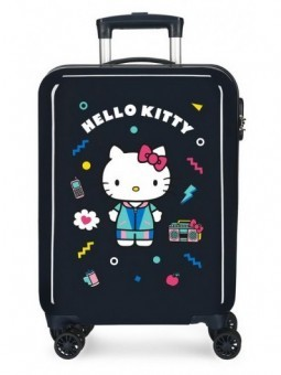 Maleta cabina negra Hello Kitty Castle