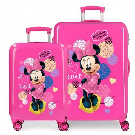 Juego de maletas Disney Love Minnie All Heart