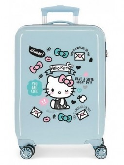 Maleta cabina azul Hello Kitty You are Cute