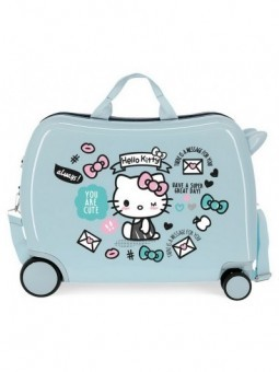 Maleta correpasillos azul Hello Kitty You are Cute