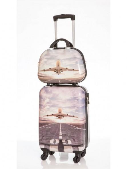 ad170e449 Maleta de cabina y neceser Sky, maleta de viaje ideal